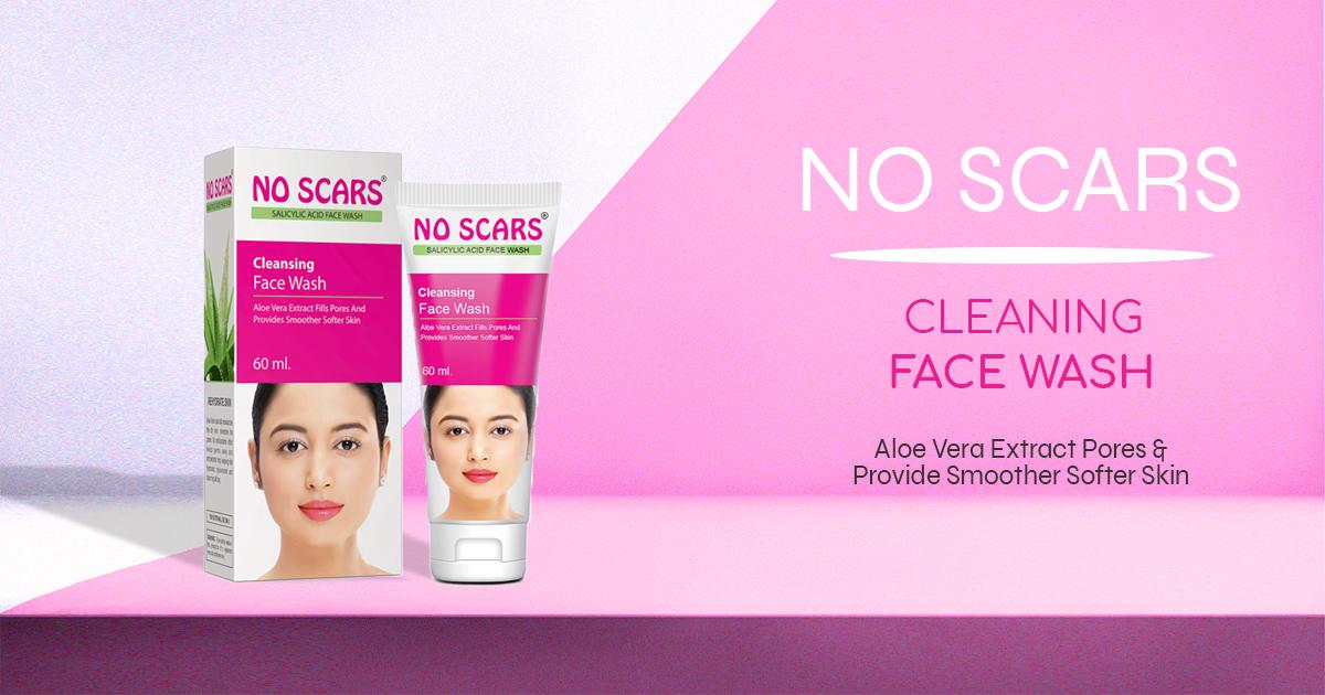 scar-reducing facewash