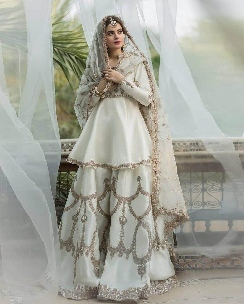 Medium Length sharara dress choli